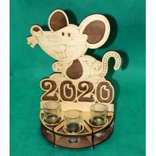 Подставка под стопки с символом 2020 года